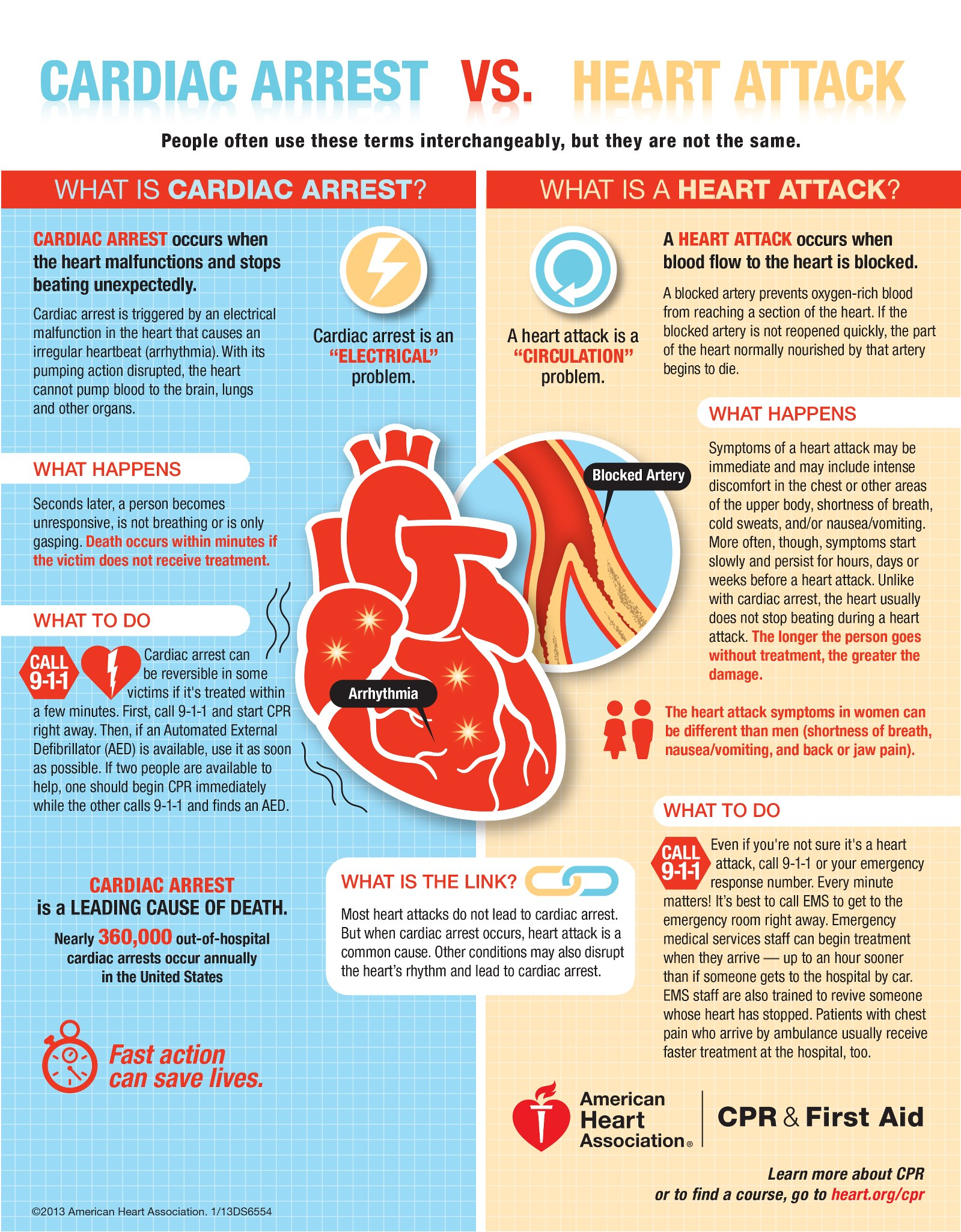 The Different Types Of Wine Infographic: Heart Attack Or Cardiac Arrest. Do You Know The Difference